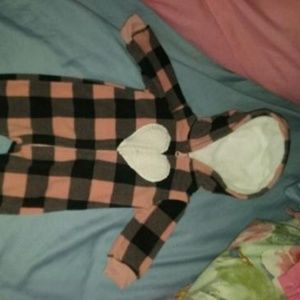 Nwot Carter's size 3 months hooded romper